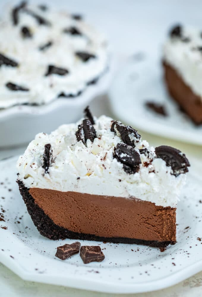 No Bake Chocolate Pie