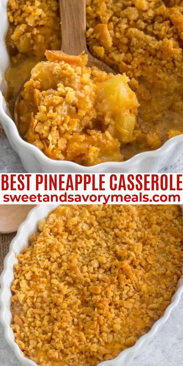 easy pineapple casserole pin