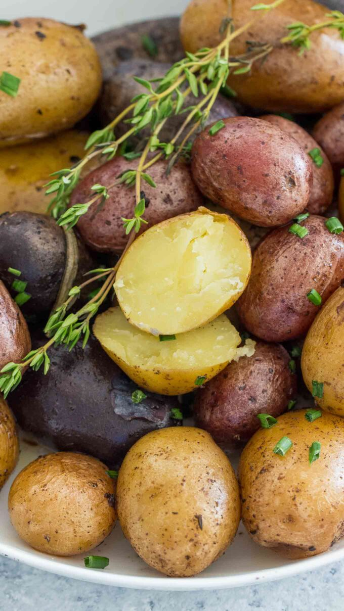 Instant pot garlic roasted potatoes