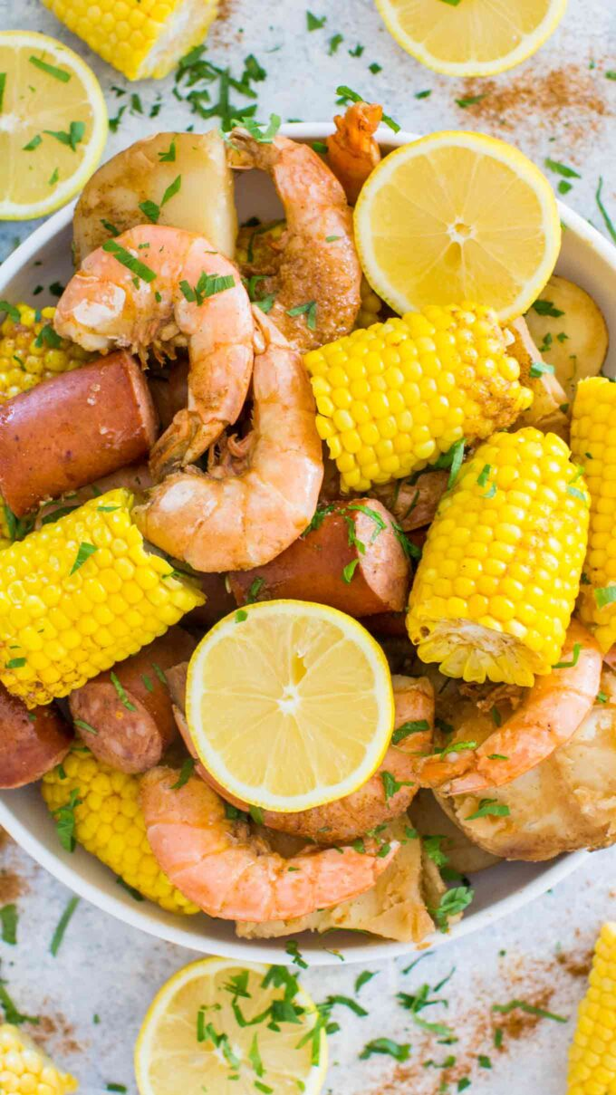 Image of instant pot shrimp boil.