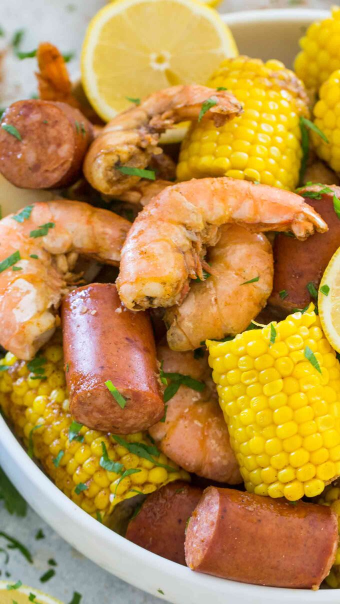 Instant pot shrimp boil picture.