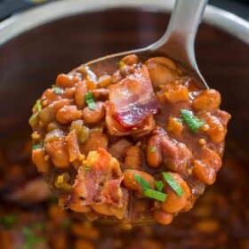 Pressure Cooker Instant Pot Baked Beans