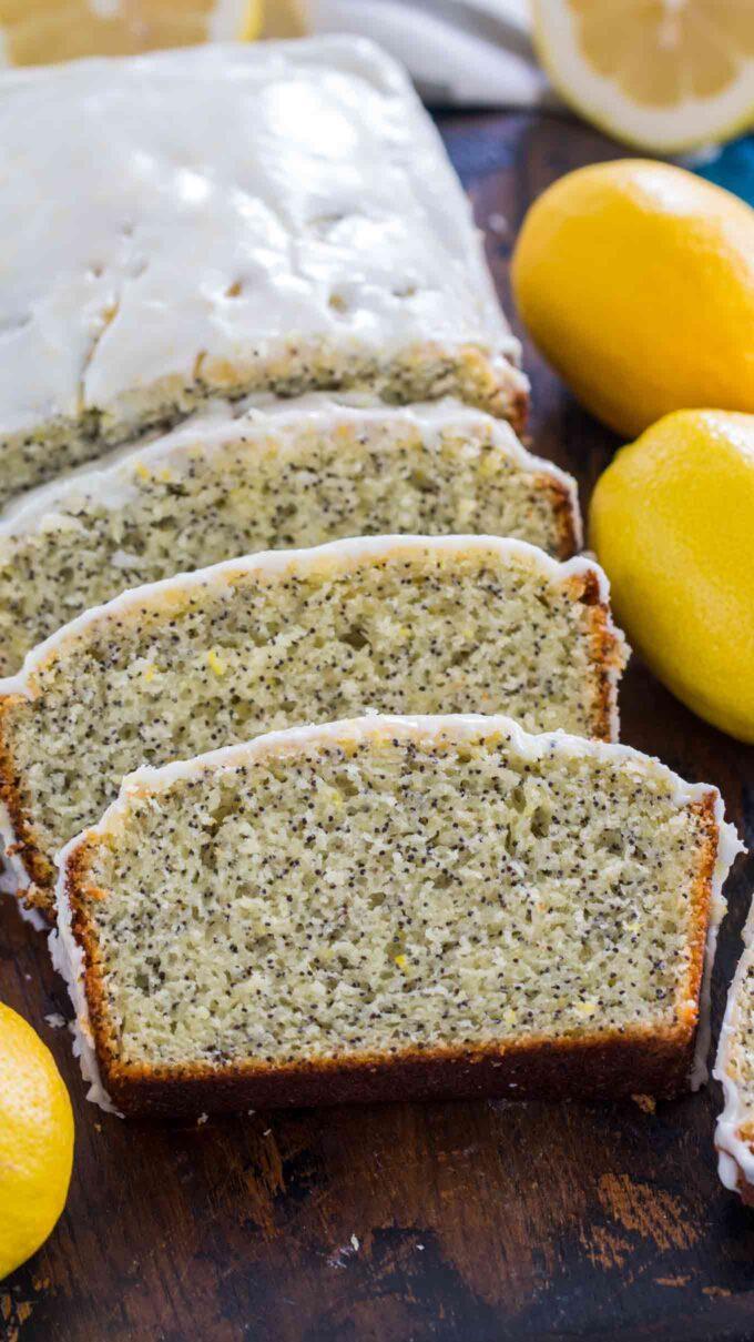 Image of lemon poppy seed bread.