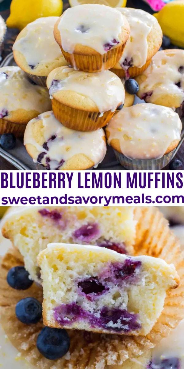 easy blueberry lemon muffins pin