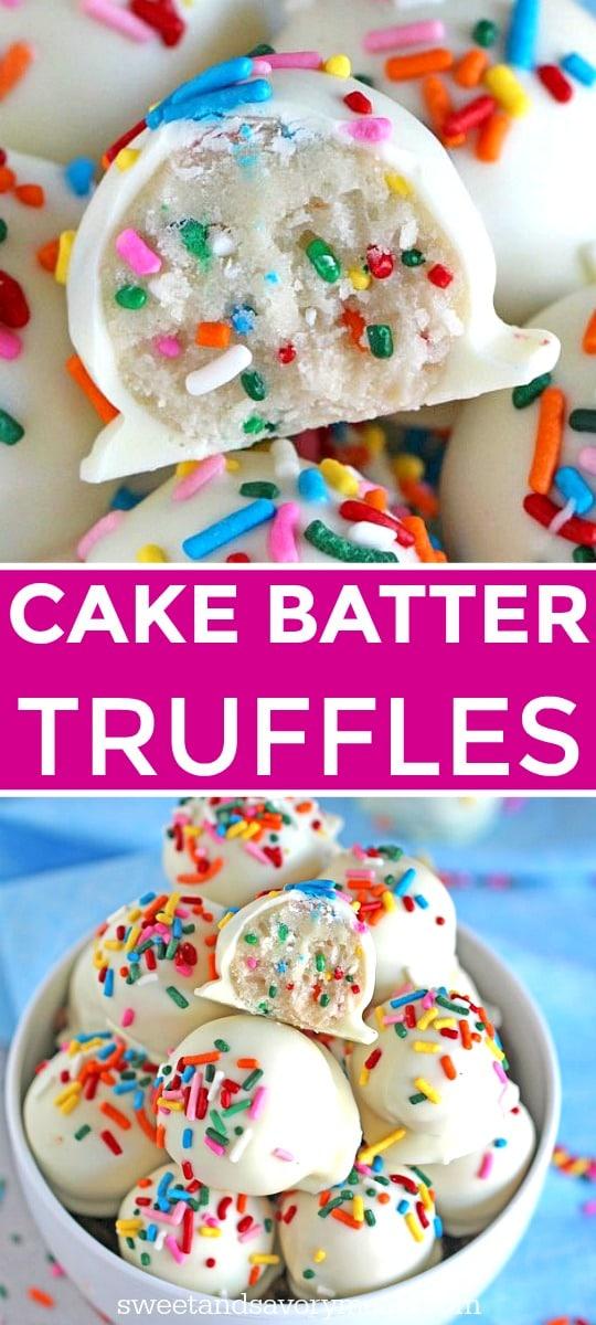 No Bake Cake Batter Truffles Image
