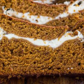 Best Pumpkin Bread with Cream Cheese Filling
