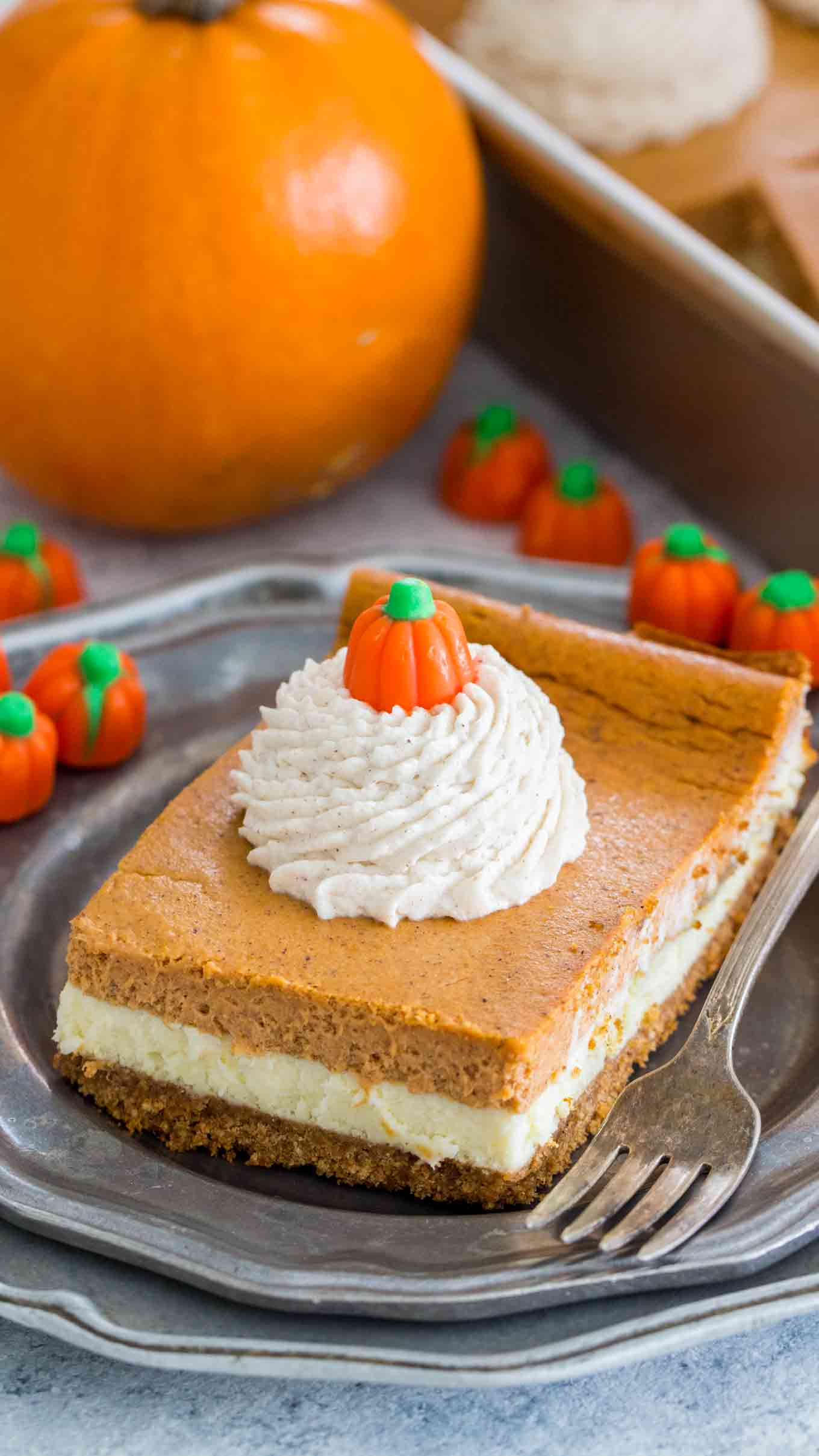 Pumpkin Cheesecake Bars Recipe Video Sweet And Savory Meals