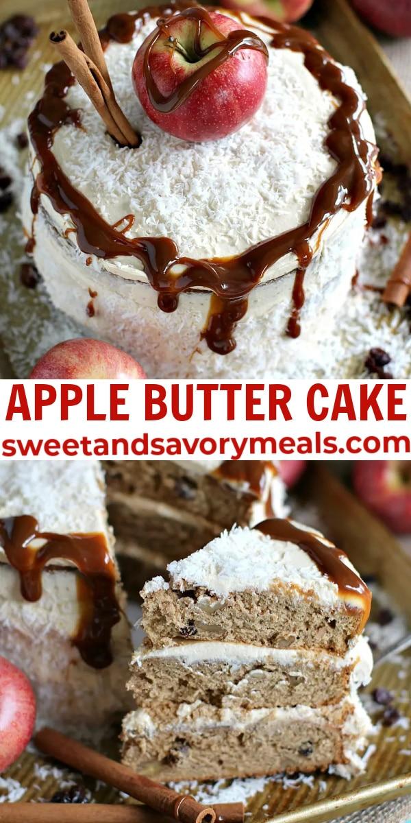 easy apple butter cake pin