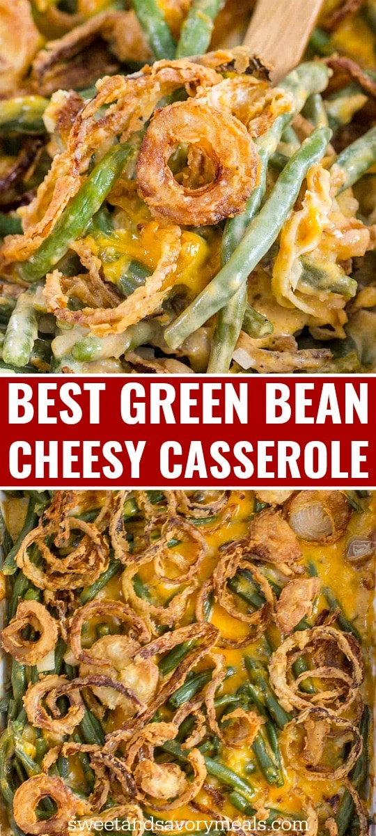 Green bean casserole image for pinterest.