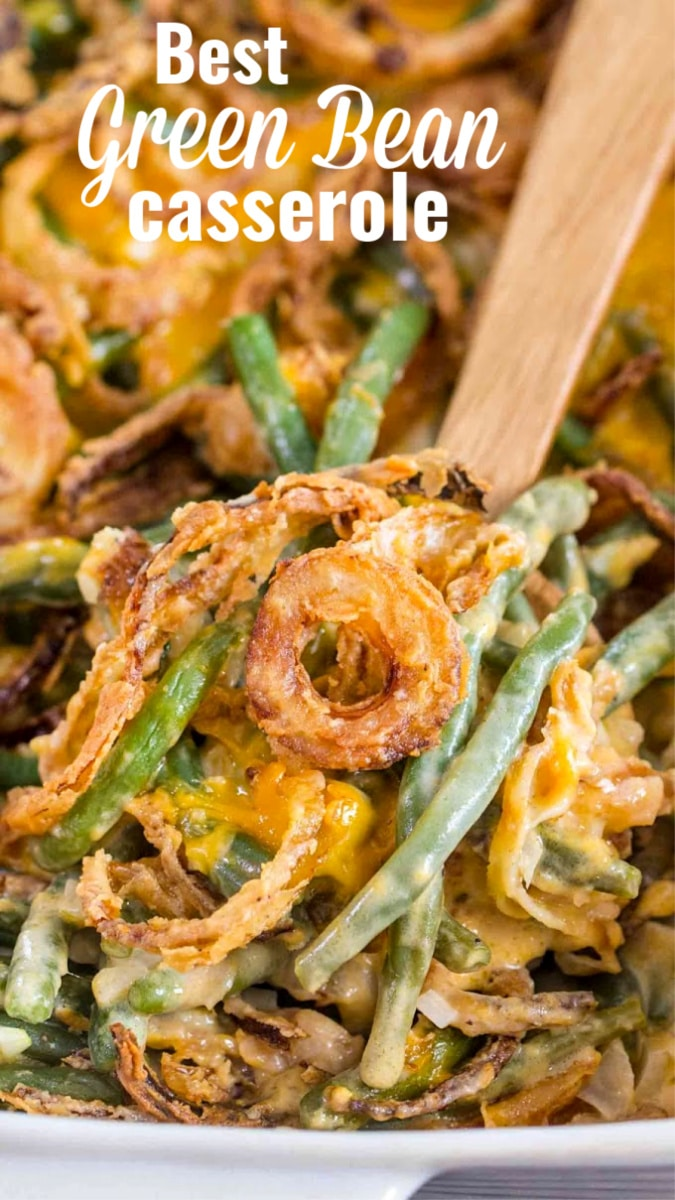 Picture of green bean casserole.