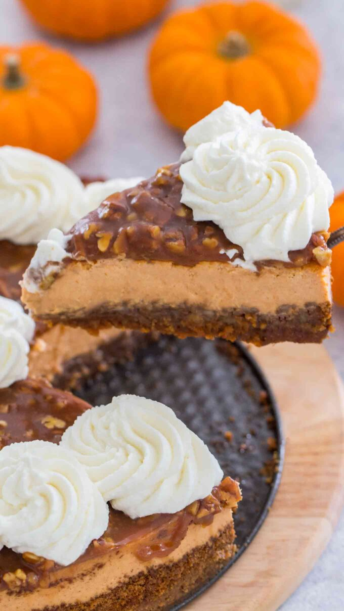 Pecan Pie Pumpkin Cheesecake