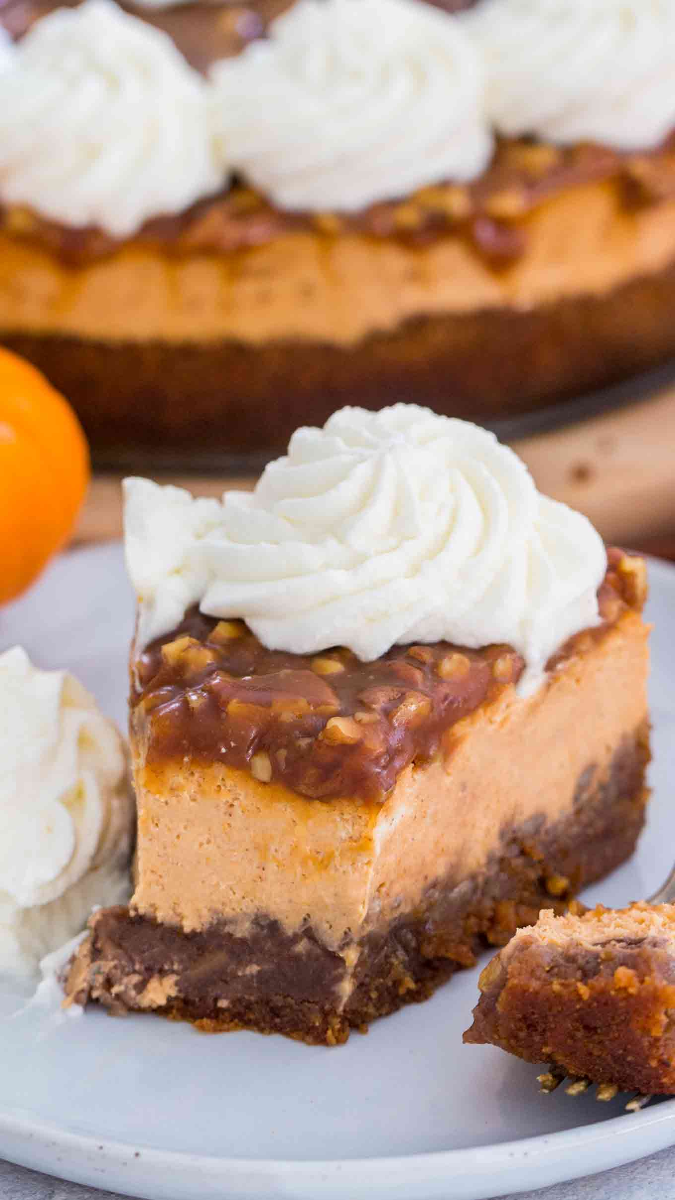 Pumpkin Pecan Pie Cheesecake Recipe Video Sweet And Savory Meals