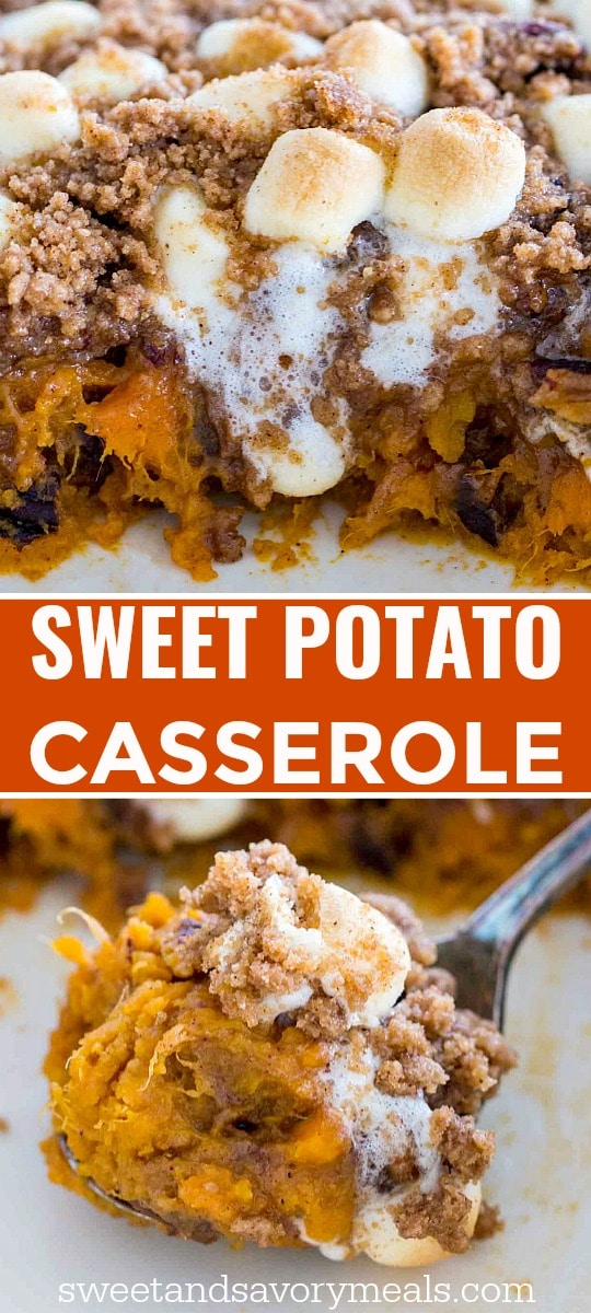 image of sweet potato casserole for pinterest