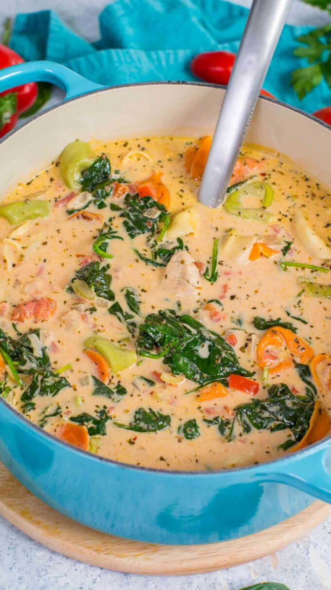 Tuscan Chicken Tortellini Soup Recipe