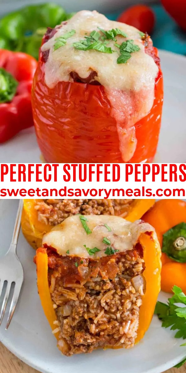 easy perfect stuffed peppers pin