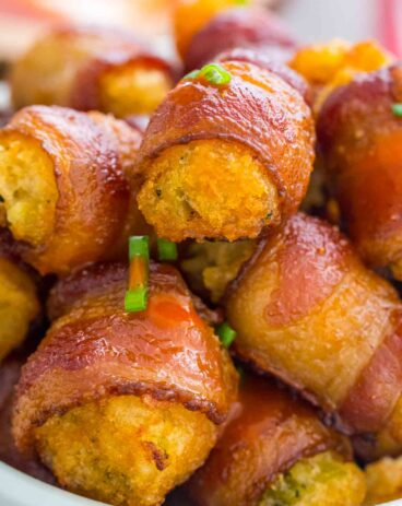 Bacon Wrapped Broccoli Tots
