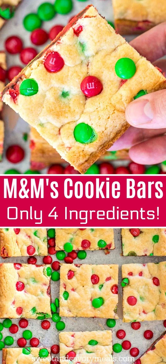 M&M Cookie Bars