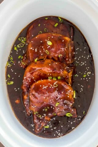 Slow Cooker Pork Chops in Teriyaki Sauce