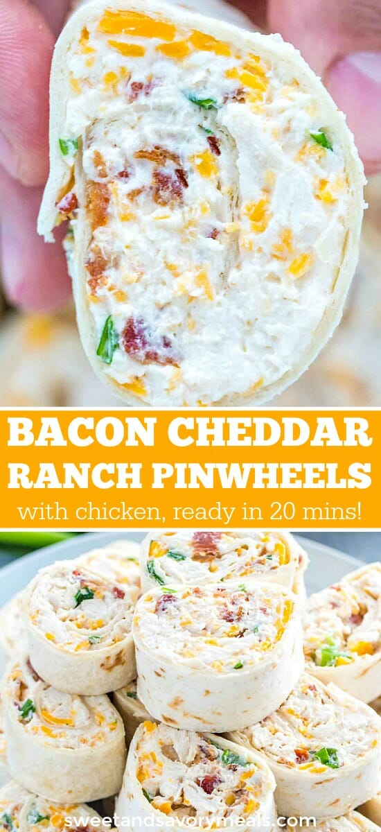 picture of bacon cheddar ranch pinwheels for pinterest