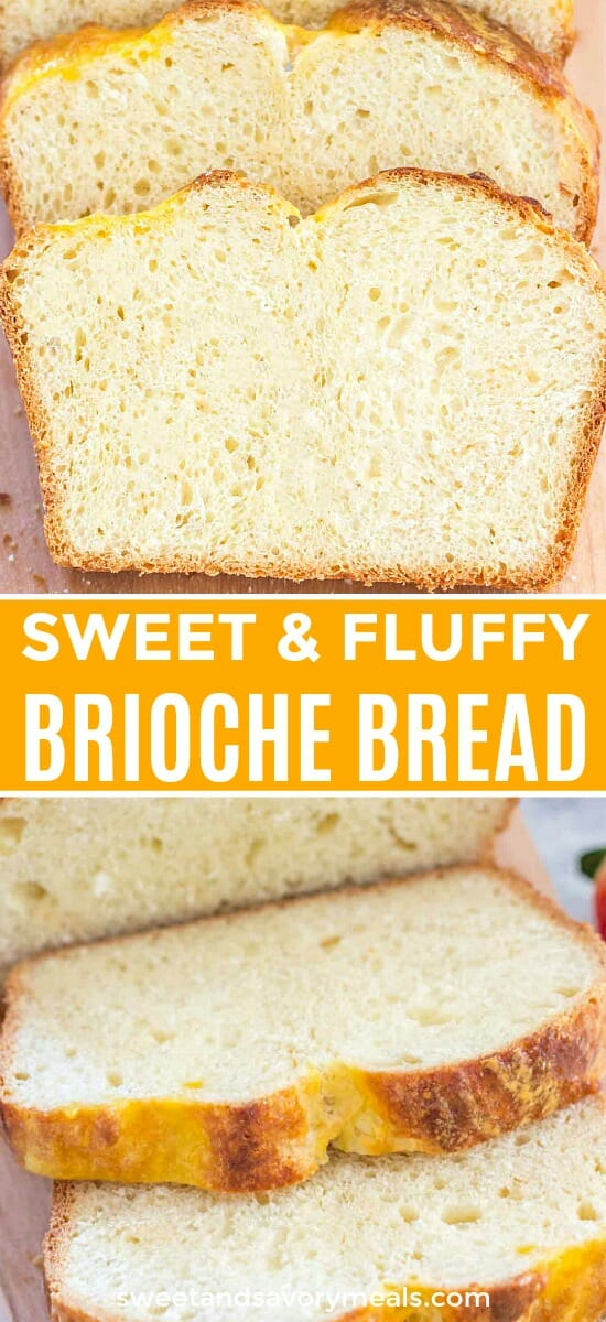 Image of sweet and fluffy brioche bread.