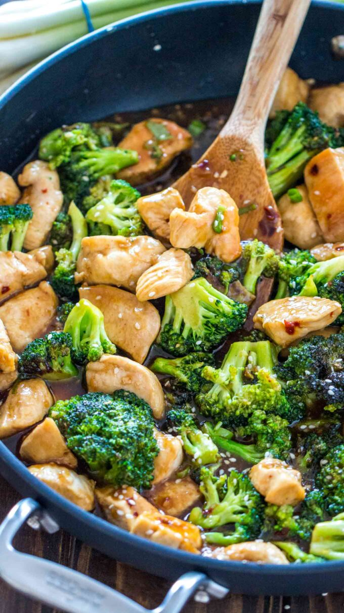 Chicken and broccoli photo.