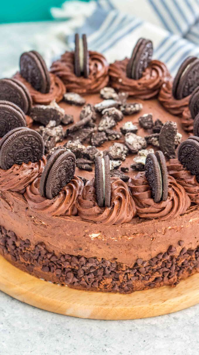 Oreo cheesecake photo.