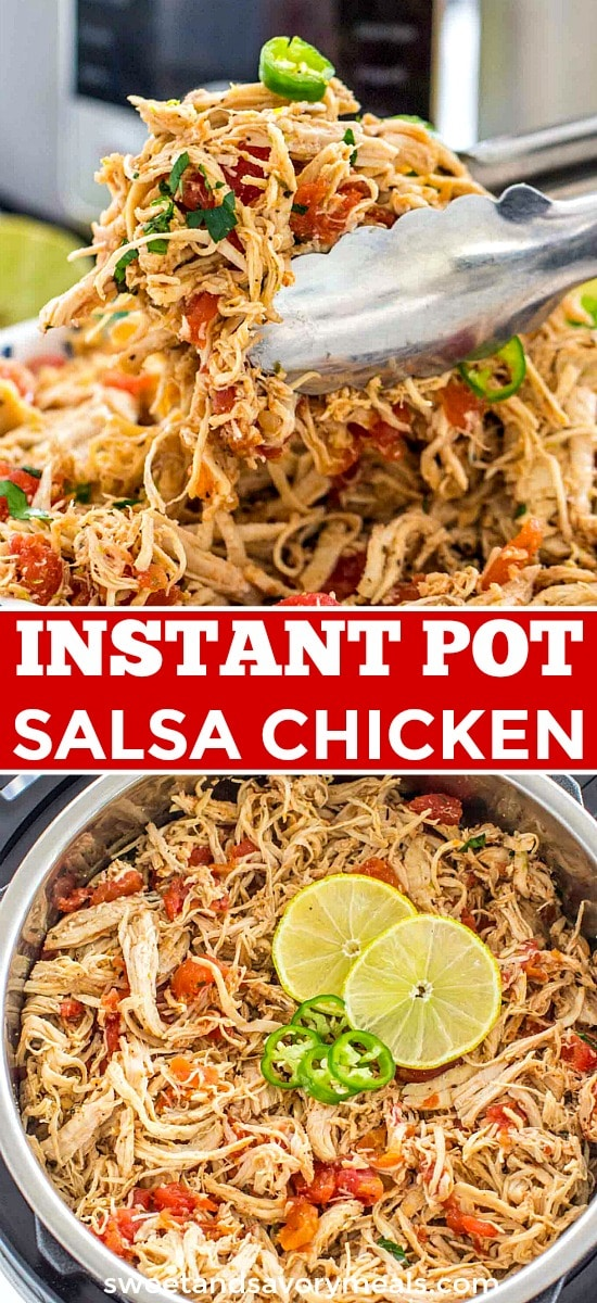 Instant pot salsa chicken picture.