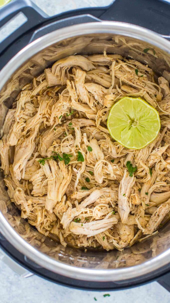 Instant pot shredded chicken with lime photo.