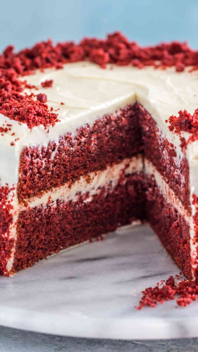 Homemade Red Velvet Cake from Scratch