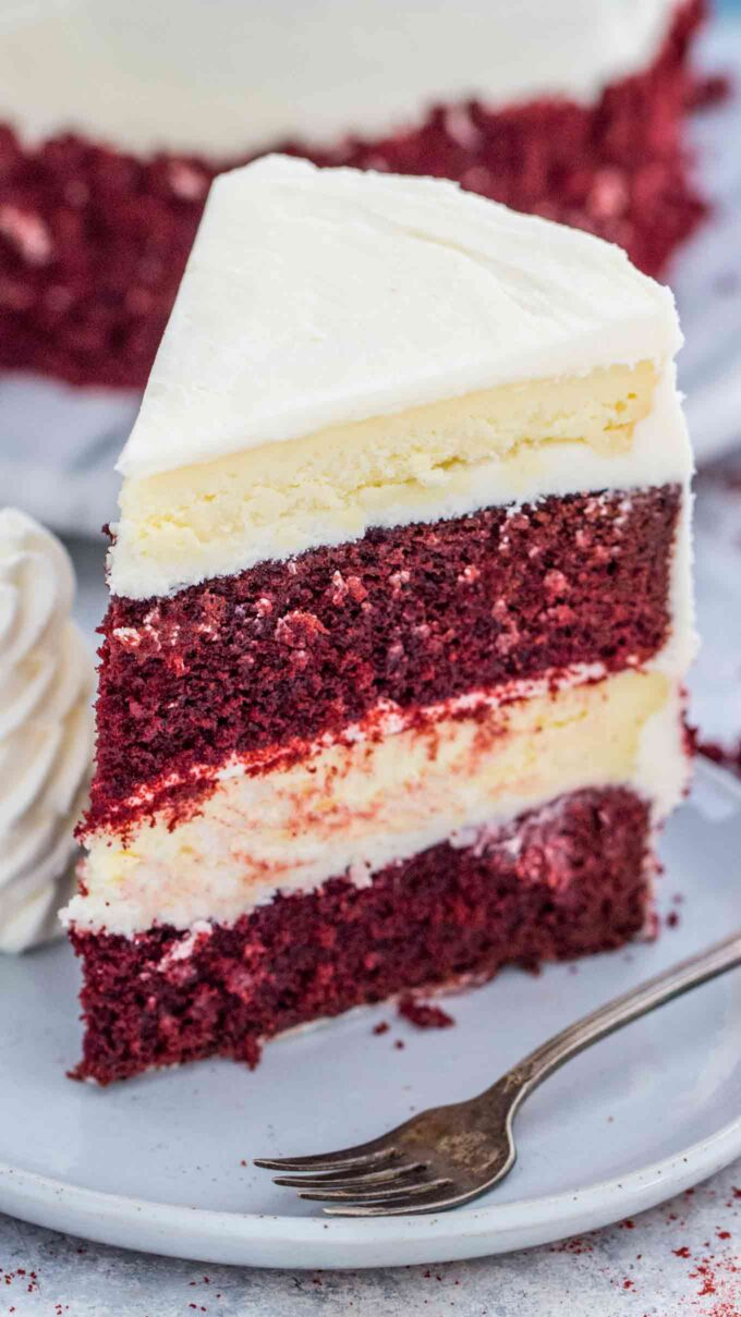 Red Velvet Cake Cheesecake Recipe from Scratch