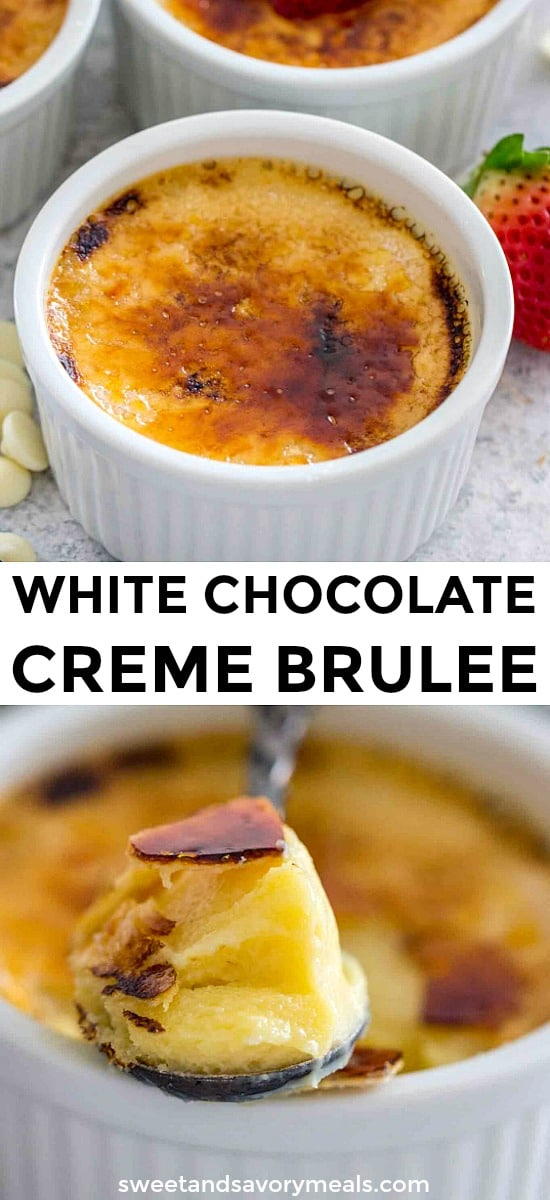 White Chocolate Creme Brûlée Recipe made from Scratch