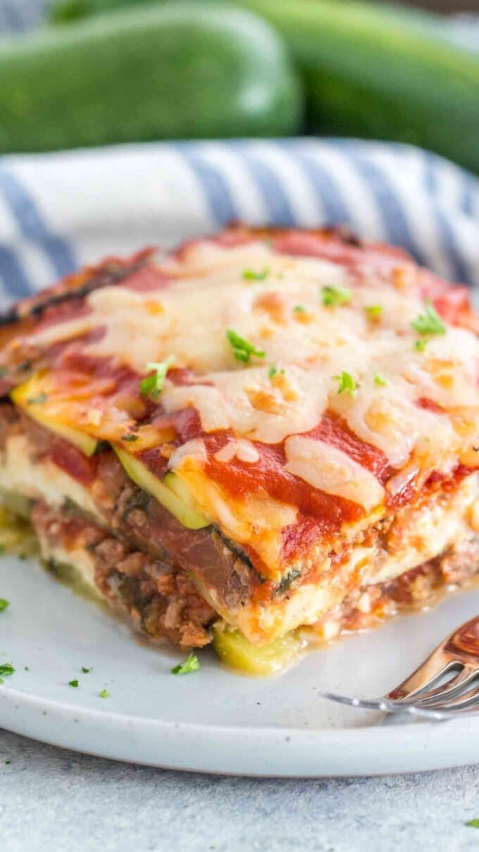Zucchini Lasagna Slice