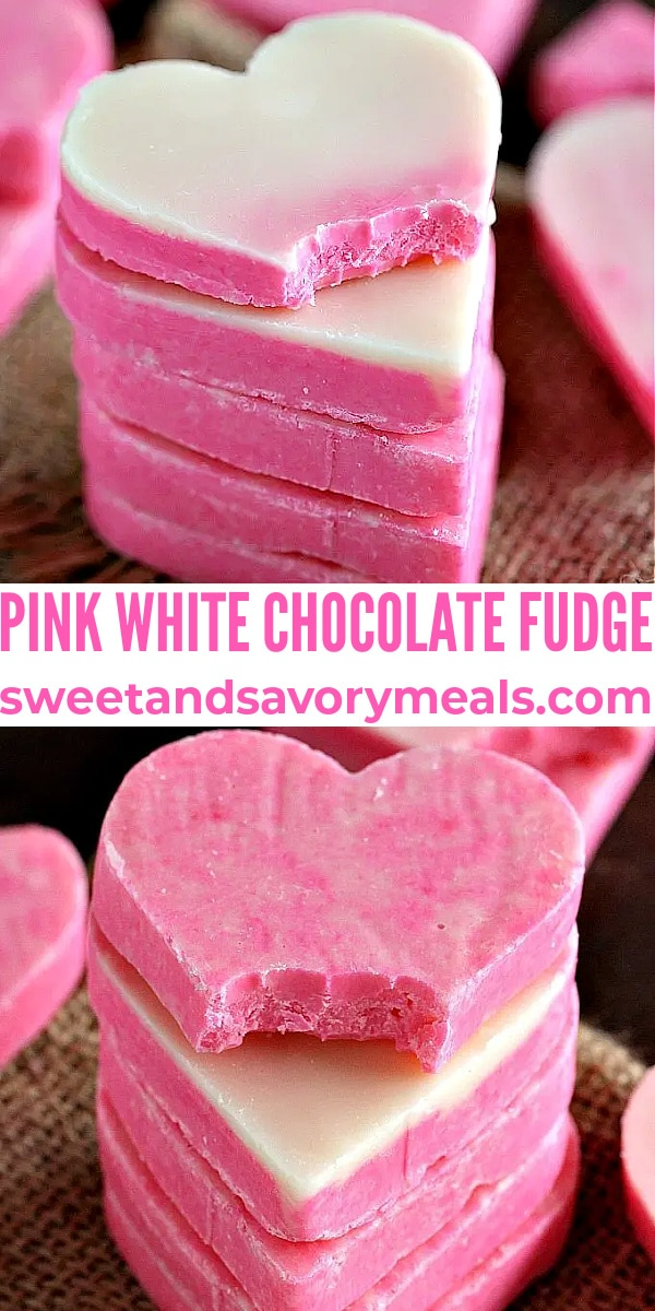 easy pink white chocolate fudge pin