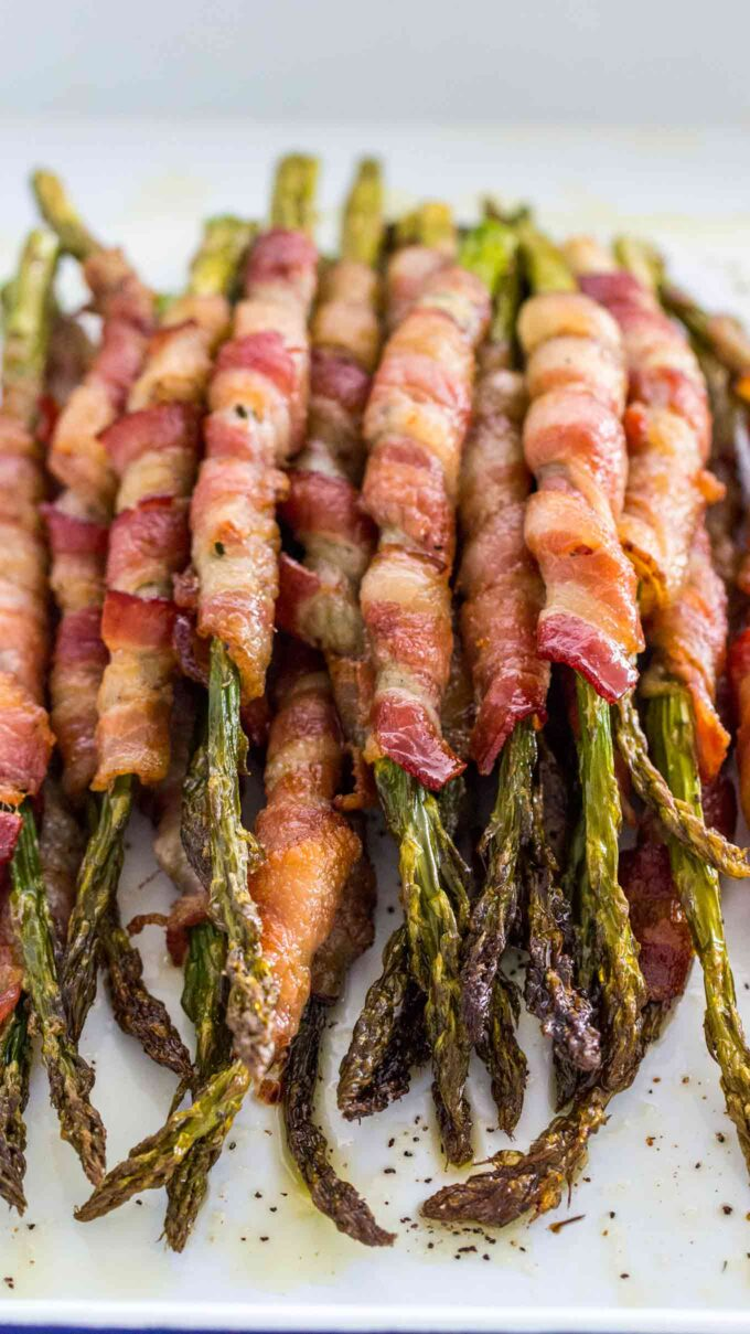 Bacon wrapped asparagus photo.