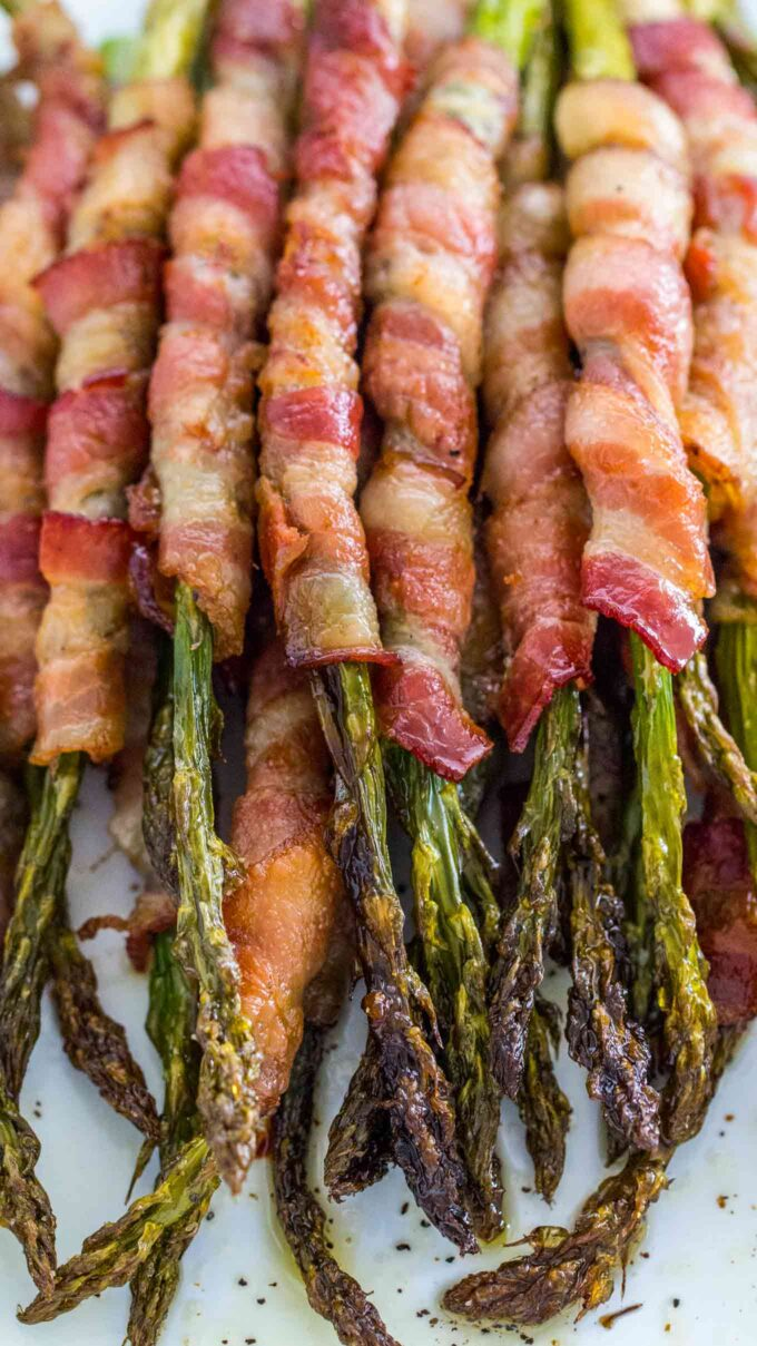 Image of bacon wrapped asparagus.