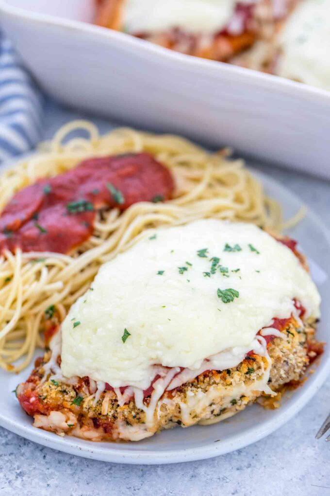 Easy Baked Chicken Parmesan from Scratch
