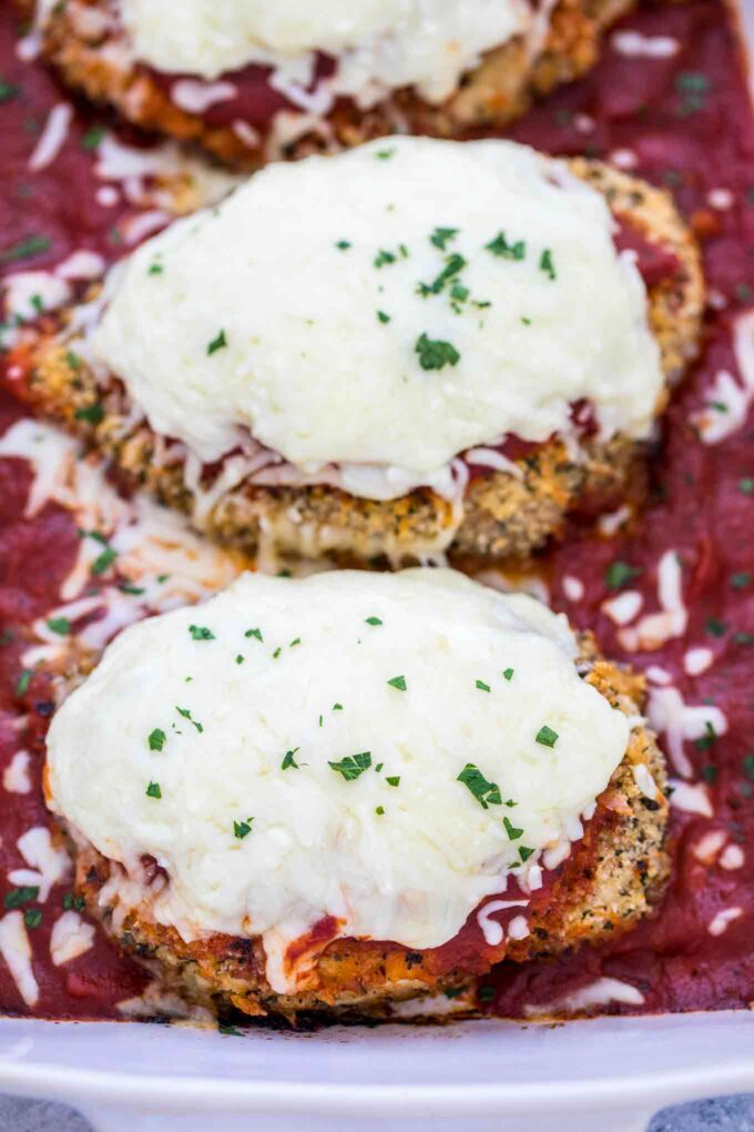 Baked Chicken Parmesan with Marinara Sauce