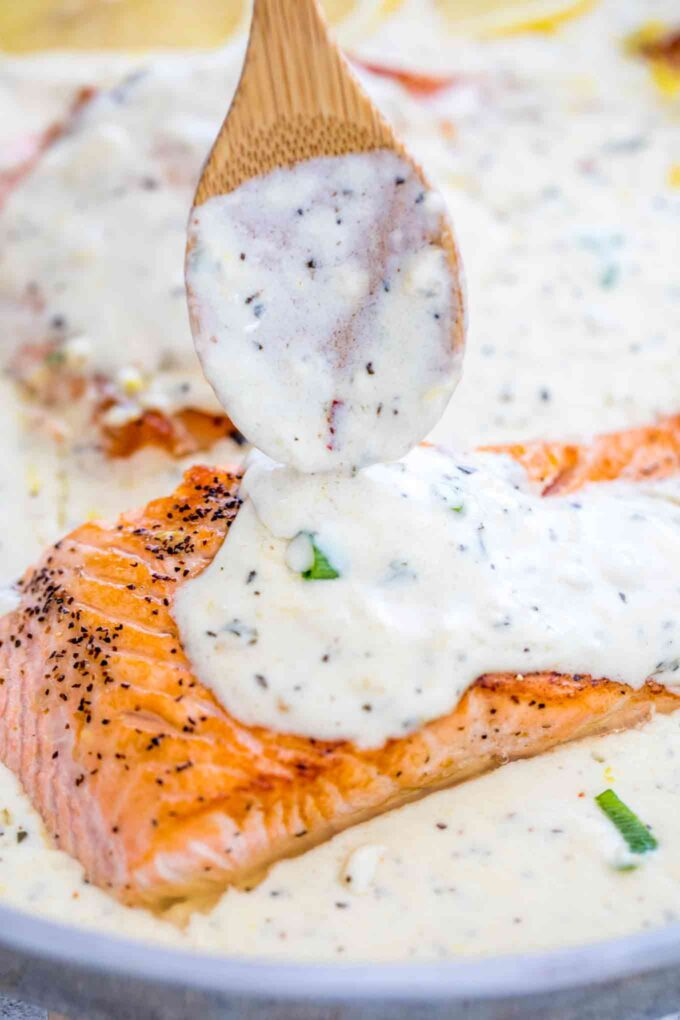 Homemade Creamy Sauce for Salmon Recipe
