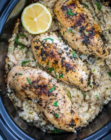 Crockpot Chicken and Rice