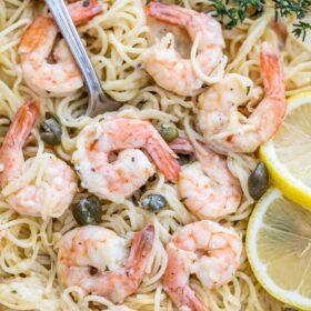 Creamy Garlic Parmesan Shrimp Pasta