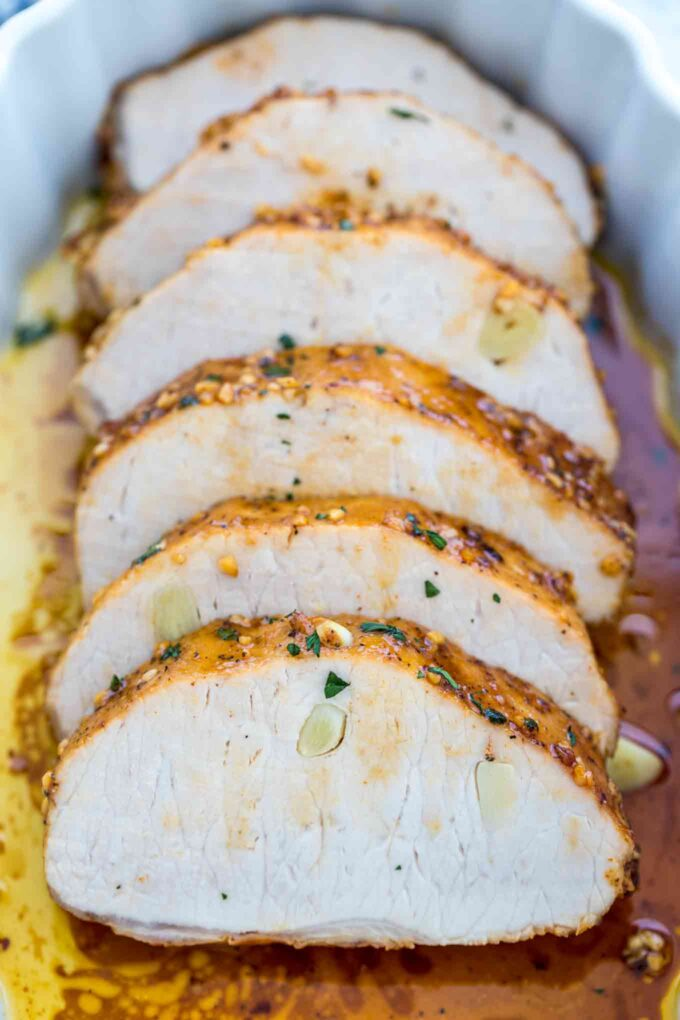 Garlic Roasted Pork Loin Recipe