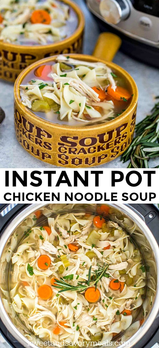Homemade Instant Pot Chicken Noodle Soup Recipe