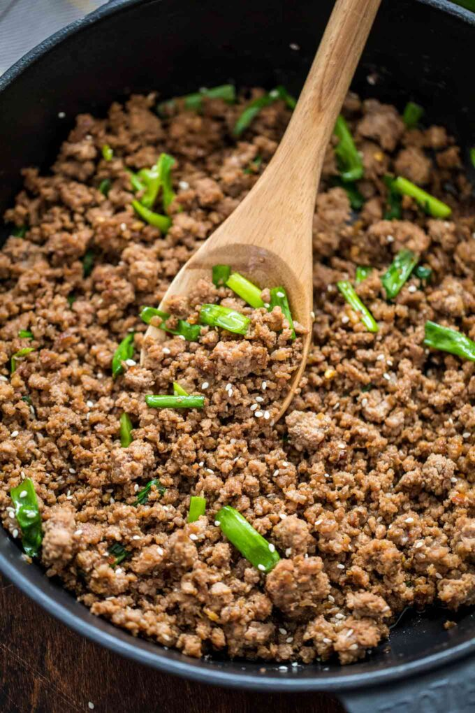 One Pan Korean Ground Beef