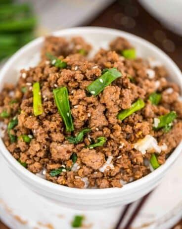 Homemade Korean Ground Beef