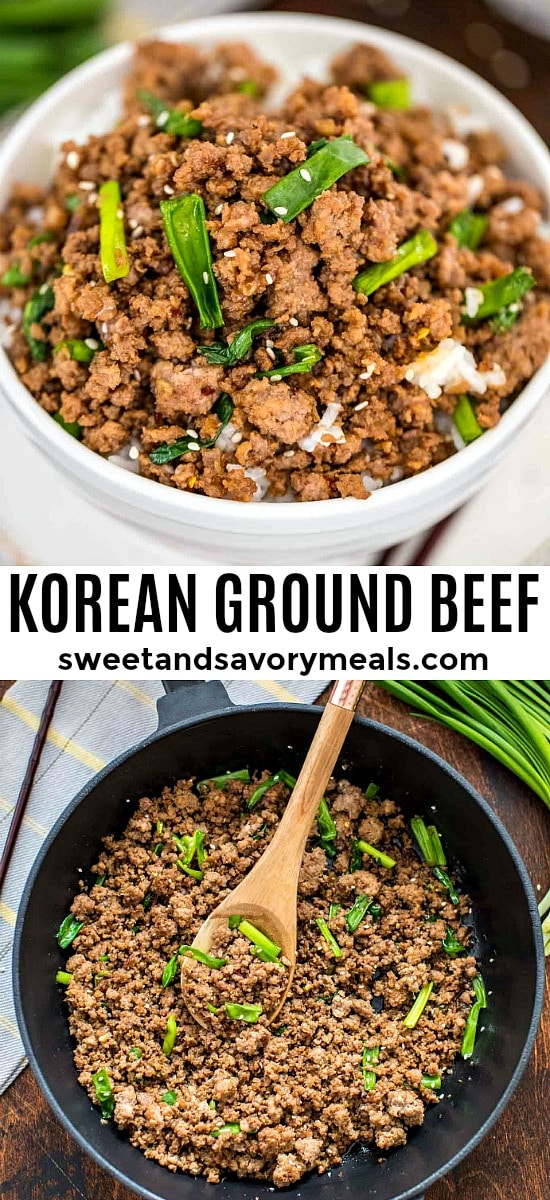 Homemade Korean Ground Beef and Rice Bowls