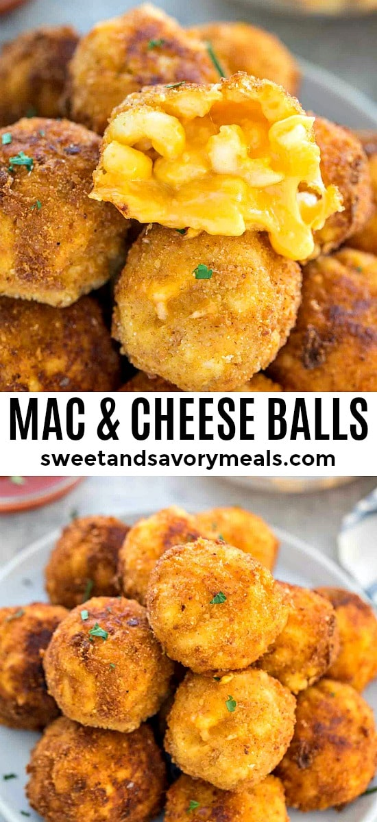 Photo of mac and cheese balls made with leftover mac and cheese.