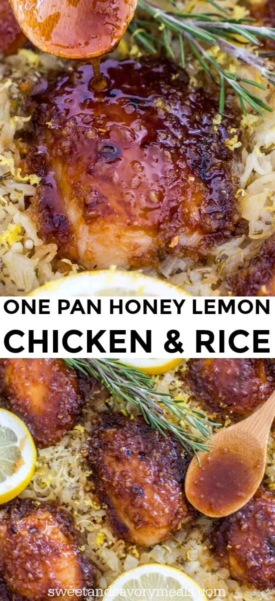 Honey Garlic Lemon Chicken and Rice