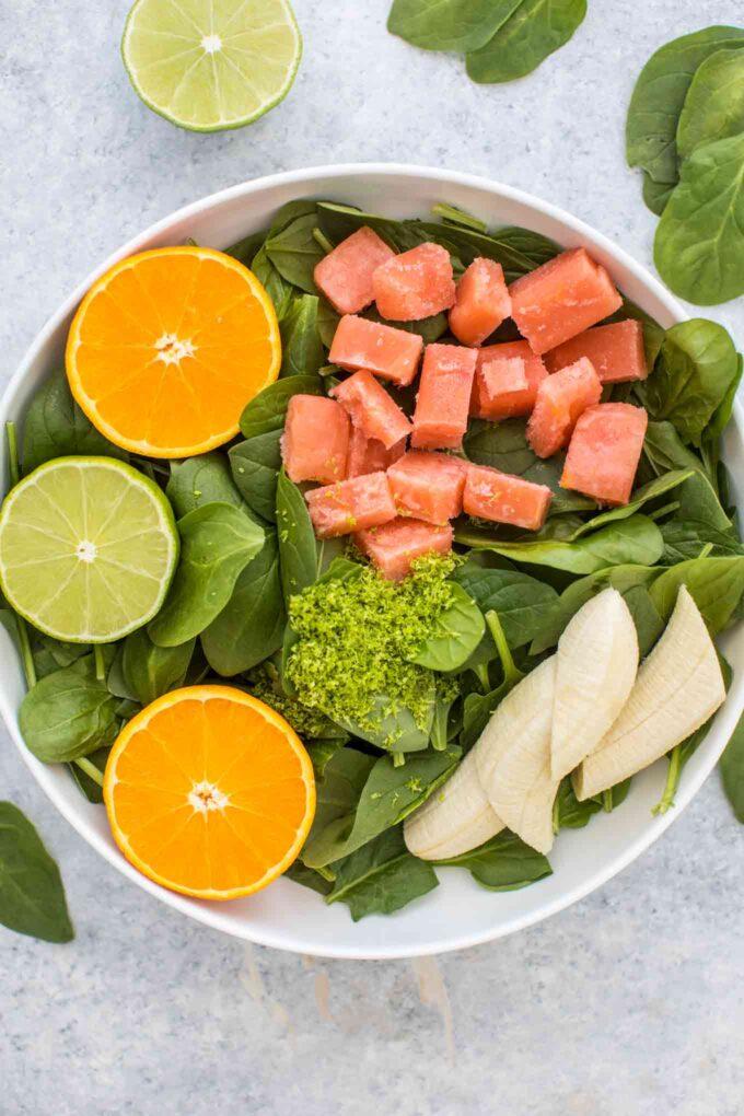 Spinach Smoothie Recipe Ingredients
