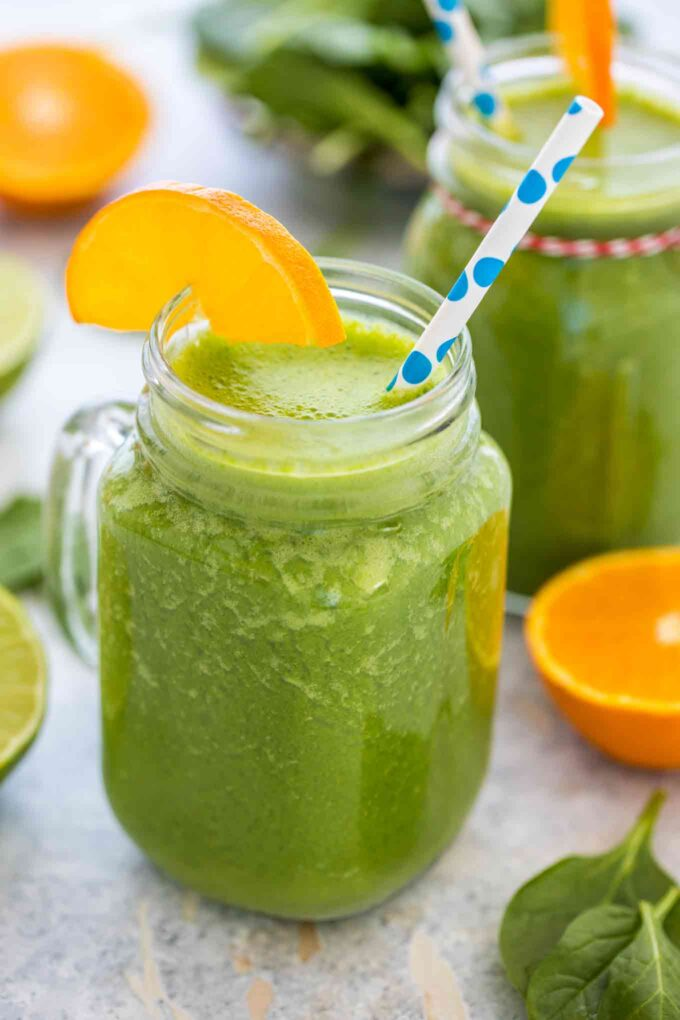 Vegan Spinach Smoothie with Bananas