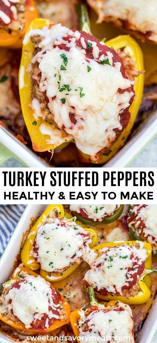 Healthy Turkey Stuffed Peppers Recipe